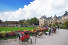 Luxembourg garden and palace Royalty Free Stock Photo