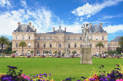 Luxembourg garden and palace Royalty Free Stock Photography