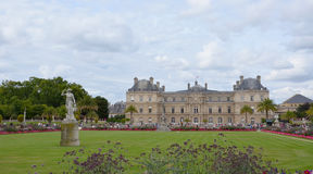 Luxembourg garden, Paris. PARIS - AUG 12: Luxembourg garden in Paris, France is shown here on August 12, 2016. The garden was created in 1612 stock image