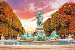 Luxembourg Garden. In Paris,Fontaine de l'Observatoir.Paris.France royalty free stock photos