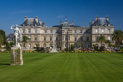 Luxembourg garden, Paris, France. A popular place among Parisians looking for rest and pleasure Stock Photo
