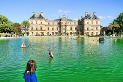 Luxembourg Garden in Paris, France royalty free stock image