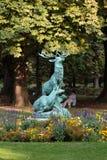 Luxembourg Garden, Paris. Statue of the deer in Luxembourg Garden, Paris stock photos