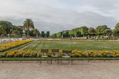 Luxembourg Garden in the spring. Paris stock photo