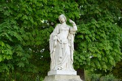 Luxembourg garden statue. Statue in Luxembourg garden. Paris, France royalty free stock photos