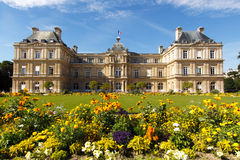 Luxembourg Gardens. The Palace in the Luxembourg Gardens, Paris, France; in horizontal orientation with copy space for text Royalty Free Stock Photography