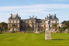 Luxembourg Gardens. The Palace in the Luxembourg Gardens, Paris, France; in horizontal orientation with copy space for text Stock Image