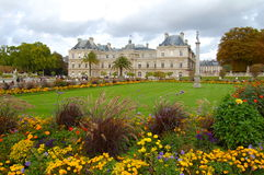 Luxembourg Gardens. Palace in the Luxembourg Gardens Stock Photos
