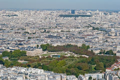 Luxembourg gardens anoramic view from Tower Montpa Royalty Free Stock Photos
