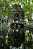 Luxembourg Gardens fountain. Medici fountain in Luxembourg Gardens, Paris Stock Image