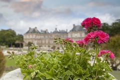 Luxembourg Gardens. Palace and park ensemble in the heart of Paris. Former royal, now national palace park stock image