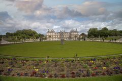 Luxembourg Gardens. Palace and park ensemble in the heart of Paris. Former royal, now national palace park stock images