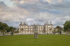 Luxembourg Gardens. Palace and park ensemble in the heart of Paris. Former royal, now national palace park royalty free stock photos