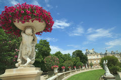 Luxembourg Gardens in Paris. Landscape view of the beautiful Luxembourg Gardens in Paris, France Stock Photography