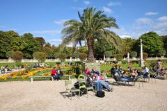 Luxembourg gardens, Paris Royalty Free Stock Photos