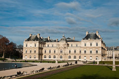 Luxembourg Gardens in Paris stock images