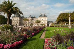 Luxembourg Gardens in Paris stock image