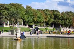 Luxembourg Gardens, Paris Stock Photography