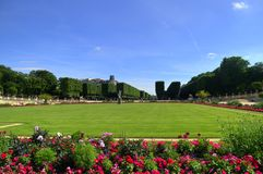 Luxembourg gardens, Paris, France. View of Luxembourg gardens, Paris, France. Jardin du Luxembourg Royalty Free Stock Photos