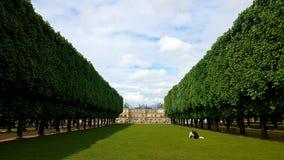 Luxembourg gardens in Paris stock photo
