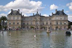 In the Luxembourg Gardens in Paris Royalty Free Stock Photos