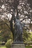 Luxembourg Gardens Paris statue of liberty.  stock photos