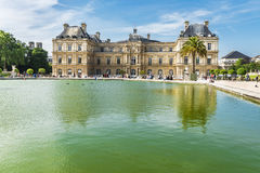 In the Luxembourg Gardens. At the pond in Luxembourg Gardens. France Royalty Free Stock Images