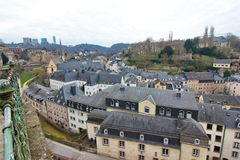 Luxembourg Grund skyline Royalty Free Stock Photos