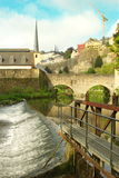 Luxembourg - Grund view near water Royalty Free Stock Photo