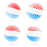 Luxembourg halftone flag set patriotic vector. Stock Images