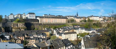 Luxembourg historical city center Royalty Free Stock Photo