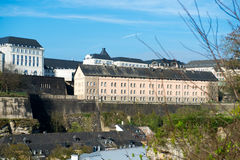 Luxembourg historical city center Royalty Free Stock Image