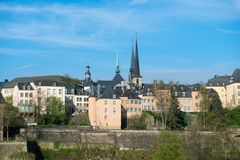 Luxembourg historical city center Royalty Free Stock Images