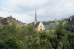 Luxembourg historical old city view Royalty Free Stock Photography