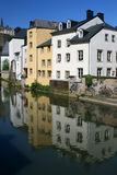 Luxembourg house reflection Royalty Free Stock Image