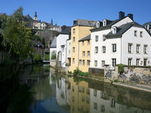 Luxembourg houses reflection Royalty Free Stock Photo