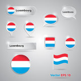 Luxembourg icon set of flags Stock Images