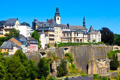 luxembourg linia horyzontu Obrazy Royalty Free