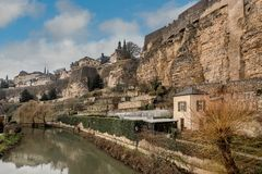 Luxembourg city, capital of Luxembourg, view of Old Town royalty free stock photo