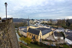 Luxembourg monastery. Imagine of the abbey of Luxembourg on a cloudy day of spring Stock Photography