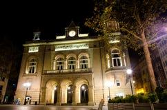 Luxembourg natt Fotografering för Bildbyråer