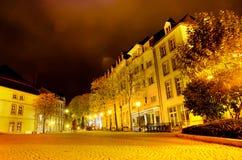 Luxembourg natt Royaltyfri Fotografi