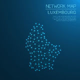 Luxembourg network map. Stock Photos