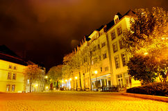 Luxembourg night. With house in centre Royalty Free Stock Photography
