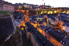 Luxembourg at night Royalty Free Stock Photography