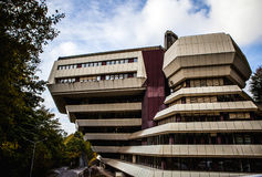 LUXEMBOURG - OCTOBER 30, 2015: Modern architecture of European buildings in Luxembourg. LUXEMBOURG - OCTOBER 30, 2015: Modern architecture of European buildings Stock Photos