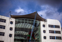 LUXEMBOURG - OCTOBER 30, 2015: Modern architecture of European buildings in Luxembourg. LUXEMBOURG - OCTOBER 30, 2015: Modern architecture of European buildings Royalty Free Stock Photo