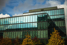 LUXEMBOURG - OCTOBER 30, 2015: Modern architecture of European buildings in Luxembourg. LUXEMBOURG - OCTOBER 30, 2015: Modern architecture of European buildings Stock Images