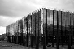 LUXEMBOURG - OCTOBER 30, 2015: Modern architecture of European buildings in Luxembourg. LUXEMBOURG - OCTOBER 30, 2015: Modern architecture of European buildings Royalty Free Stock Photos