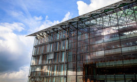 LUXEMBOURG - OCTOBER 30, 2015: Modern architecture of European buildings in Luxembourg. LUXEMBOURG - OCTOBER 30, 2015: Modern architecture of European buildings Stock Photo